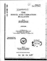 the l. shock and vibration bulletin - Defense Technical Information ...