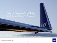 SAS Corporate Booking Bedriftsbestillingen på sas.no