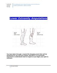 Lower Extremity Amputations - Society for Vascular Nursing