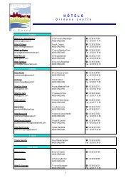Liste des hôtels - APLAES