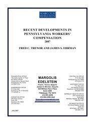 Compensation Newsletter - July 2007 - Margolis Edelstein