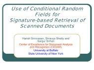 Conditional Random Fields in Document Retrieval - CEDAR