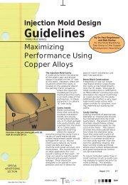 Injection Mold Design Guidelines - Copper Development Association