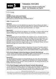 Kämpfer für den arabischen Frieden (2/4) (PDF-Download ... - WDR 5