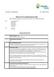 Referat af 36. kredsbestyrelsesmøde. D A G S O R D E N - Friluftsrådet