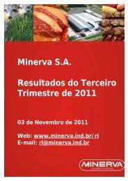 Minerva S.A. Resultados do Terceiro Trimestre de 2011 - Canal Rural