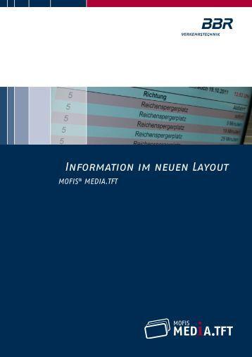 Produktinfo MEDIA.TFT (pdf) - BBR Baudis Bergmann Rösch ...
