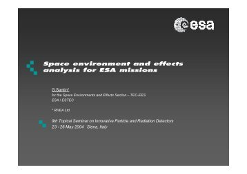 environment and effects analysis for ESA missions - Geant4