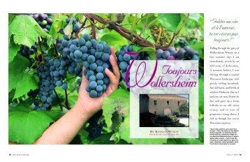 Toujours Wollersheim (pdf) - Wisconsin Alumni Association