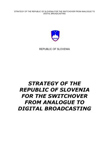 Strategy of the Republic of Slovenia for the digital switchover