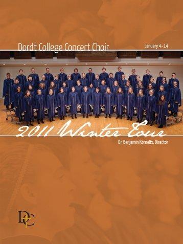 Concert Choir Tour Jan 2011 Programs.indd - Dordt College