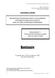 Questionnaire - Euromontana