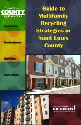 Guide to Multifamily Recycling Strategies in Saint ... - St. Louis County