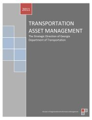 TRANSPORTATION ASSET MANAGEMENT - the GDOT