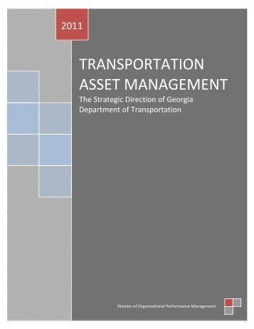 TRANSPORTATION ASSET MANAGEMENT - the GDOT