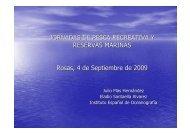 Instituto Español de Oceanografía Roses 2009 - Confederación ...