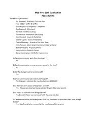 Addendum 1 Questions & Answers - Town of Waitsfield, Vermont