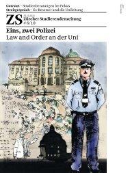 Eins, zwei Polizei - Zürcher Studierendenzeitung