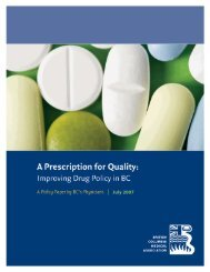 A Prescription for Quality - British Columbia Medical Association