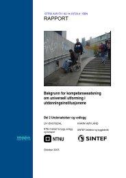 Delrapport 2 finnes også i PDF format - Universell Utforming