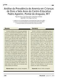 Análise da Prevalência de Anemia em Crianças de Dois ... - NewsLab