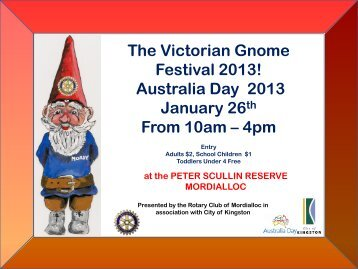 Gnome Festival - Rotary Club of Mordialloc