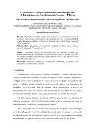 O Processo da Avaliação Institucional como Multiplicador de ...