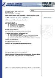 Coaching-Klausur - zur Coaching-Ausbildung
