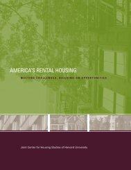 America's Rental Housing: Meeting Challenges, Building on ...
