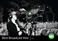 corporate profile for web view - Best Broadcast Hire, BBH
