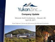 Company Update - Minerals North