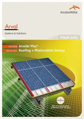Arsolar Plus - ArcelorMittal Construction International