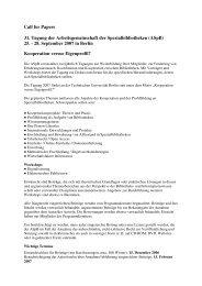 Call for Papers 31. Tagung der Arbeitsgemeinschaft der ... - ASpB