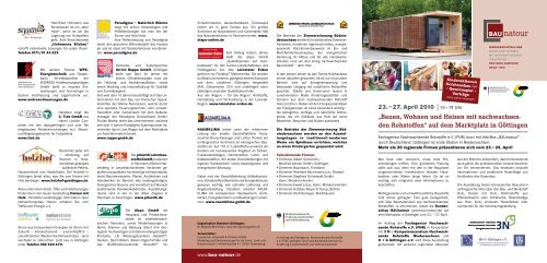Bauen, Wohnen und Heizen mit nachwachsen- den Rohstoffen - AfL ...