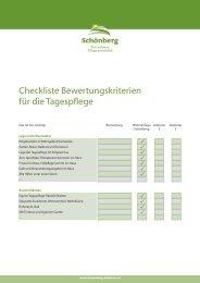 Checkliste Bewertungskriterien für die ... - Schönberg Pflege