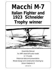 Macchi M-7 - Macca's Vintage Aerodrome