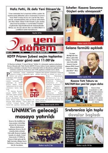 Perşembe, 26 Haziran 2008 - Kosova Prizrenliler Kültür ve ...