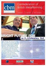 BRIGHT FUTURE FOR - Confederation of British Metalforming