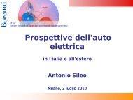 Prospettive dell'auto elettrica in Italia e all'estero - Iefe