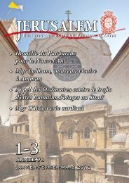 ERUSALEM - Patriarcat latin de Jérusalem
