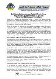 Schlussbericht Birrhard Open 2012 - RTCA Rollstuhl-Tennis Club ...
