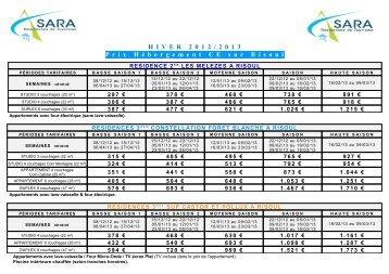 hebergement sara net comites d'entreprises hiver 2013