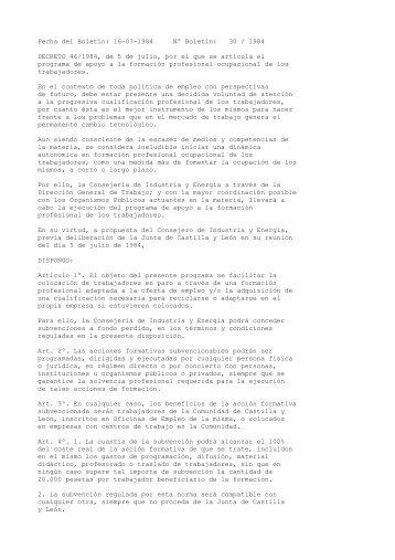 Decreto n 16 senave for Decreto ministerio del interior