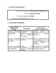 Administración del Mantenimiento - Instituto Tecnológico de Tehuacán