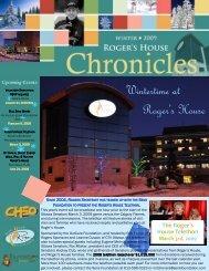 Winter 2009 Newsletter - Roger's House