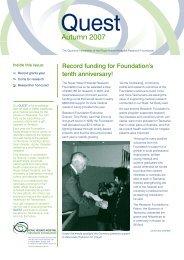 Autumn 2007 - Royal Hobart Hospital Research Foundation
