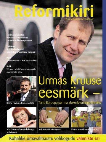 Reformikiri suvi 2009 - Reformierakond