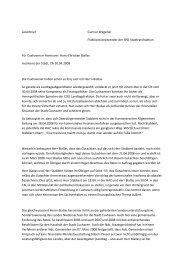 Leserbrief Gunnar Wegener Fraktionsvorsitzender der SPD ...