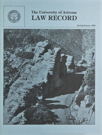 LAW RECORD - College of Law - University of Arizona
