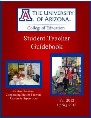 F12/S13 Elementary Student Teacher Guidebook - College of ...